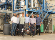 CATEC develops a pioneering aerial contact technology to carry out industrial inspections by using drones