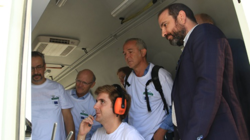 A delegation of the European Commission visits Seville to evaluate the progress of the AEROARMS project