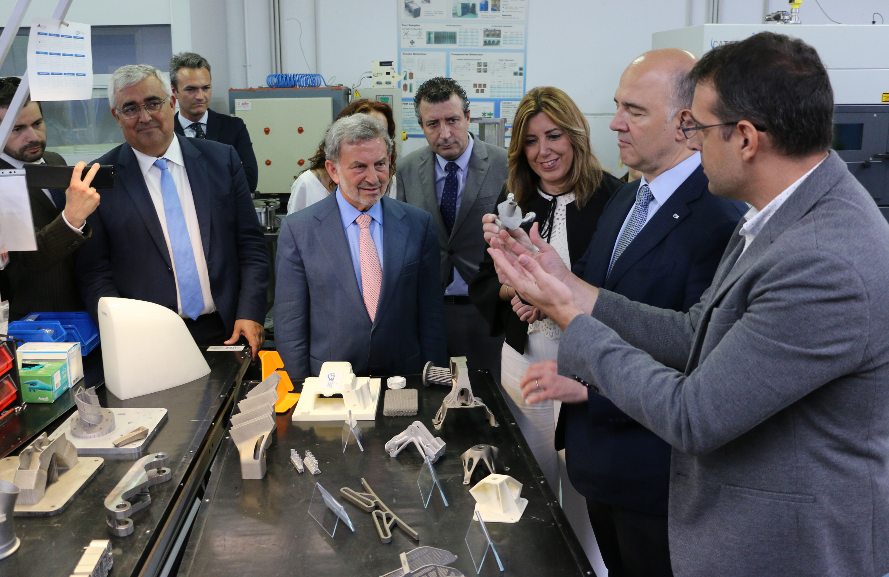 The Commissioner for Economic and Financial Affairs of the European Union, Pierre Moscovici, visited CATEC