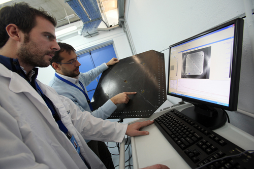 CATEC works on the application of infrared thermography for non destructive inspection of composite materials of various kinds