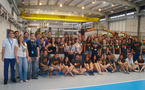 A Group of European university engineering students visit CATEC