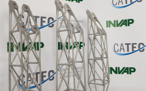 CATEC collaborates with INVAP Argentina in the development of 3D printing components for its satellite missions