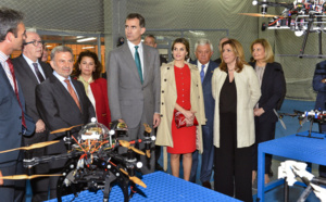 The King and Queen of Spain visited CATEC and got to know the main research lines at the Center